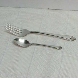Starlight Silverplate Fork, Demitasse Coffee Spoon